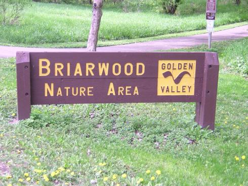 Briarwood Nature Area sign